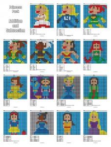 Pixel Joint Forum Disney Princess Pixel Art Coloring