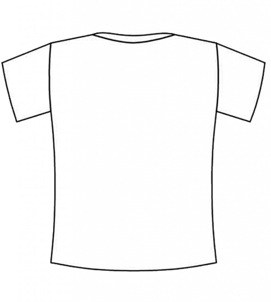 Large Tshirt Blank Colouring Pages