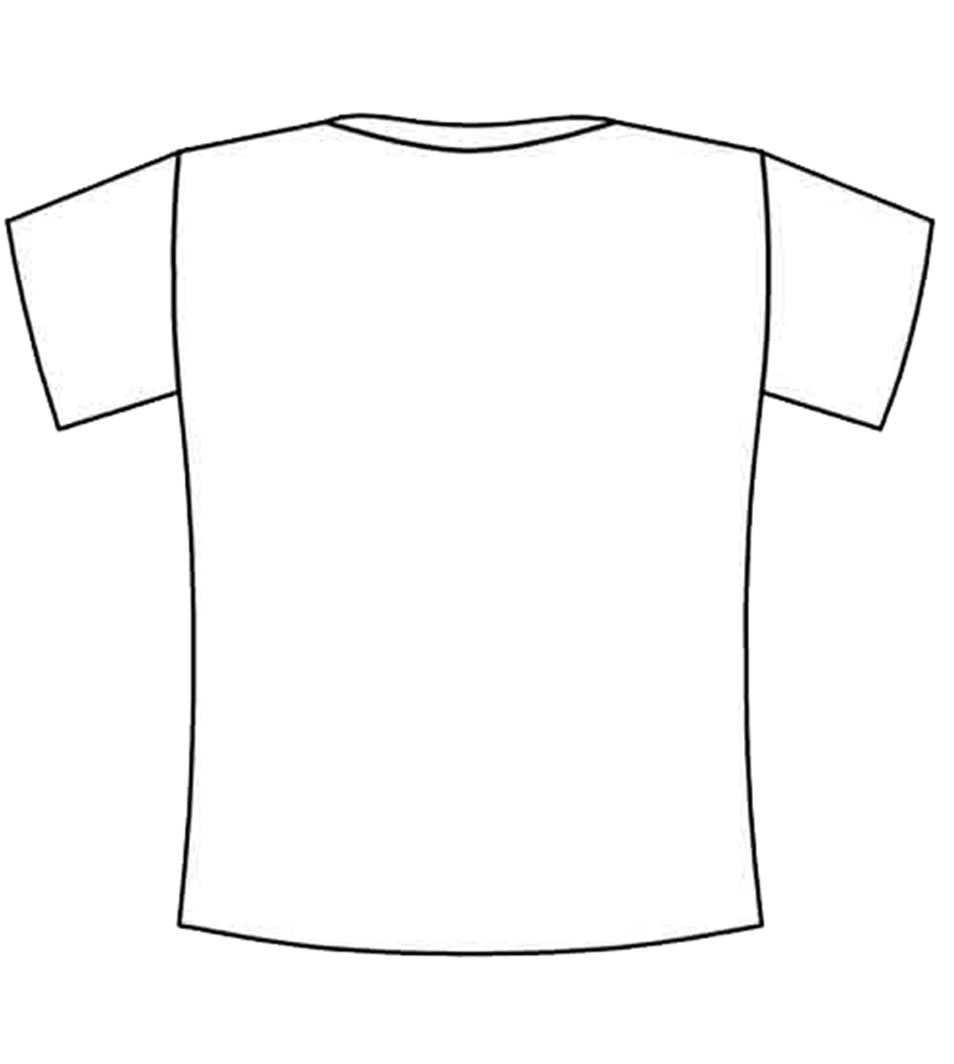 Blank Back Tshirt Coloring Squared T Shirt Coloring Page
