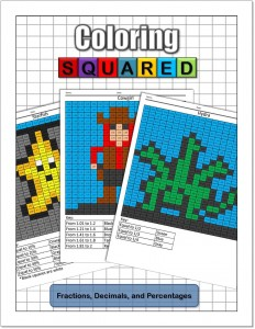 Coloring Squared: Fractions, Decimals, and Percentages $9.95