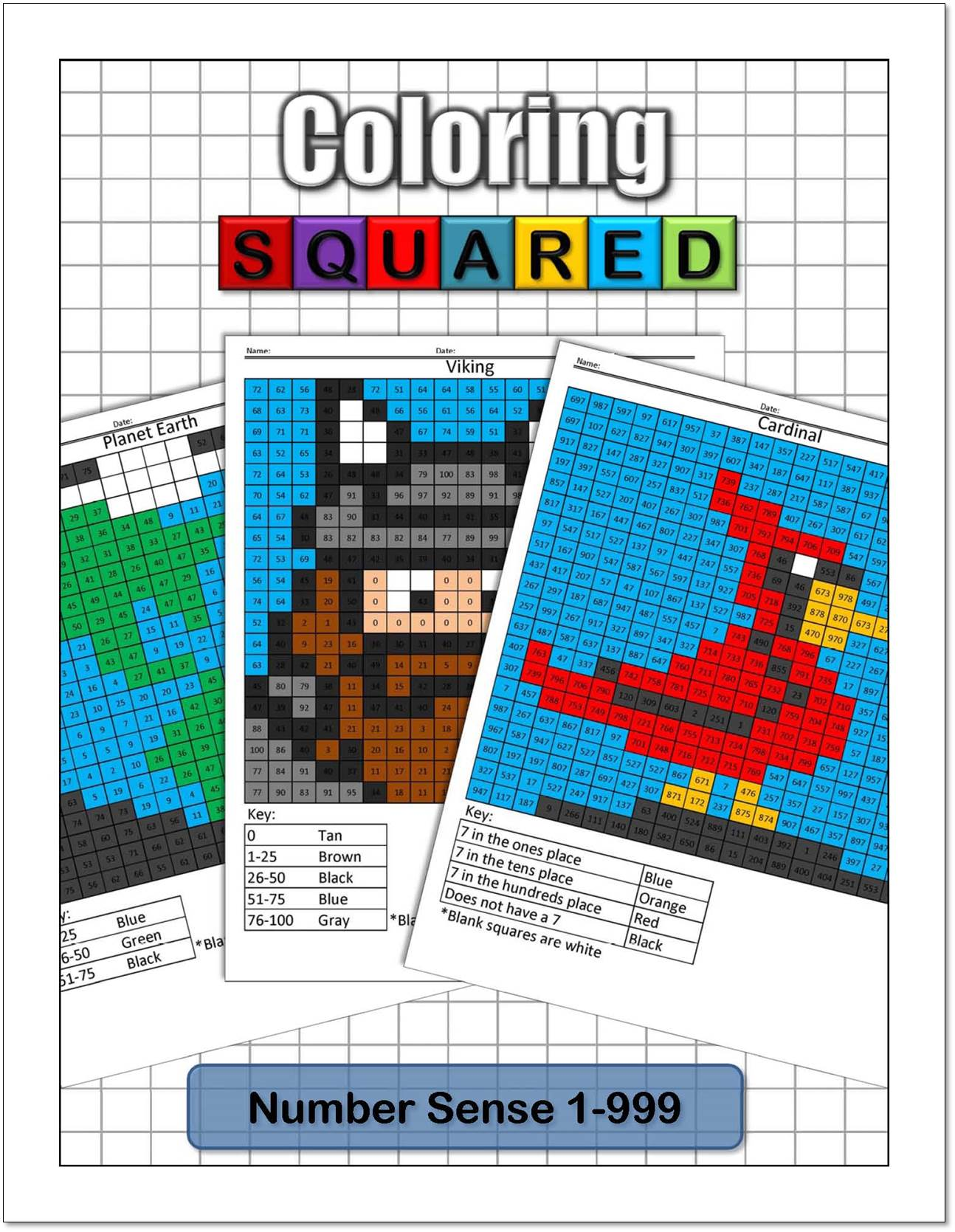 Place Value Coloring Pages - Coloring Squared