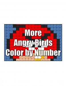 Get More Angry Bird Color By Number