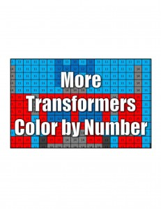 Get More Transformers Color by