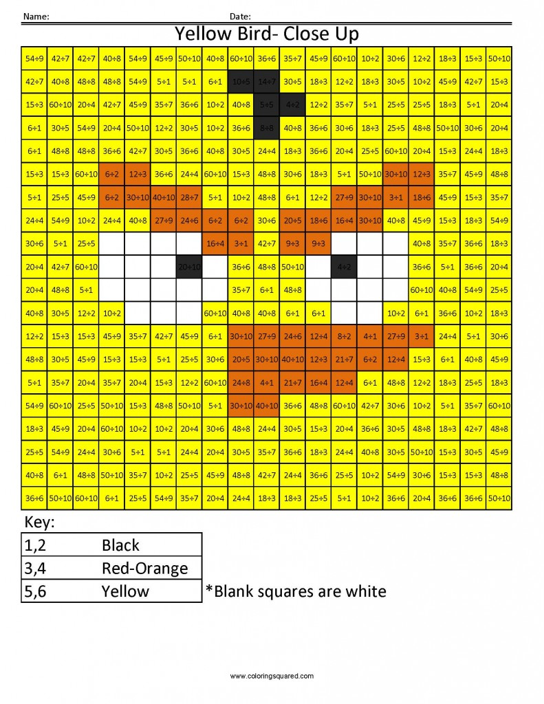 Colour by number times tables best images of multiplication colour by number times tables angry birds multiplication and division coloring squared gamestrikefo Gallery
