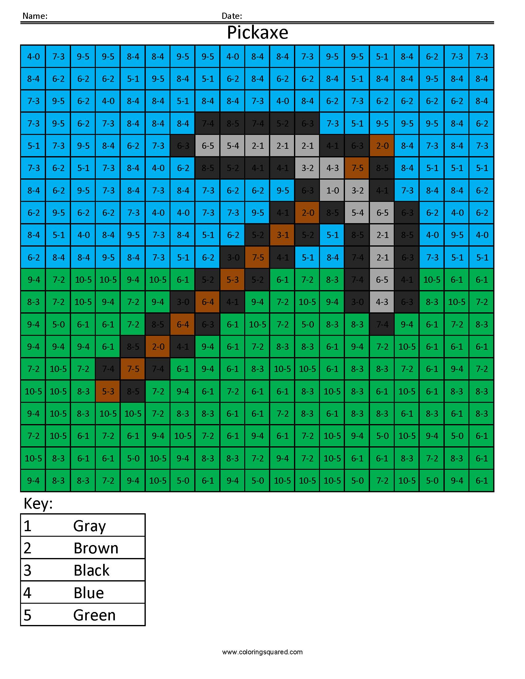 minecraft axe coloring pages-#27
