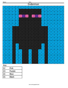 minecraft enderman color by number