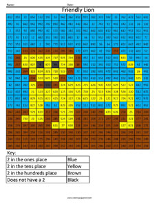Place Value Worksheets Friendly Lion