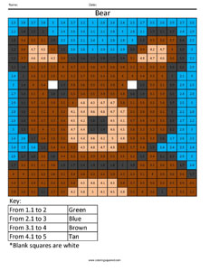 Bear Free Decimal Worksheet