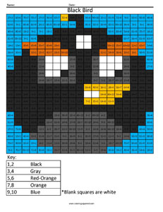 Angry birds multiplication and division coloring squared for Table de division de 99