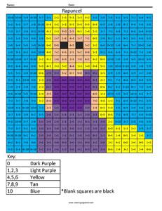 rapunzel basic addition coloring squared. Black Bedroom Furniture Sets. Home Design Ideas