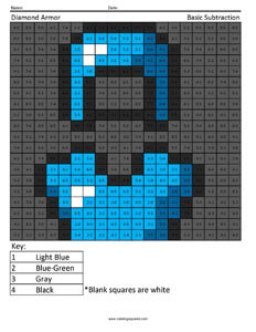 Minecraft Addition and Subtraction | Coloring Squared