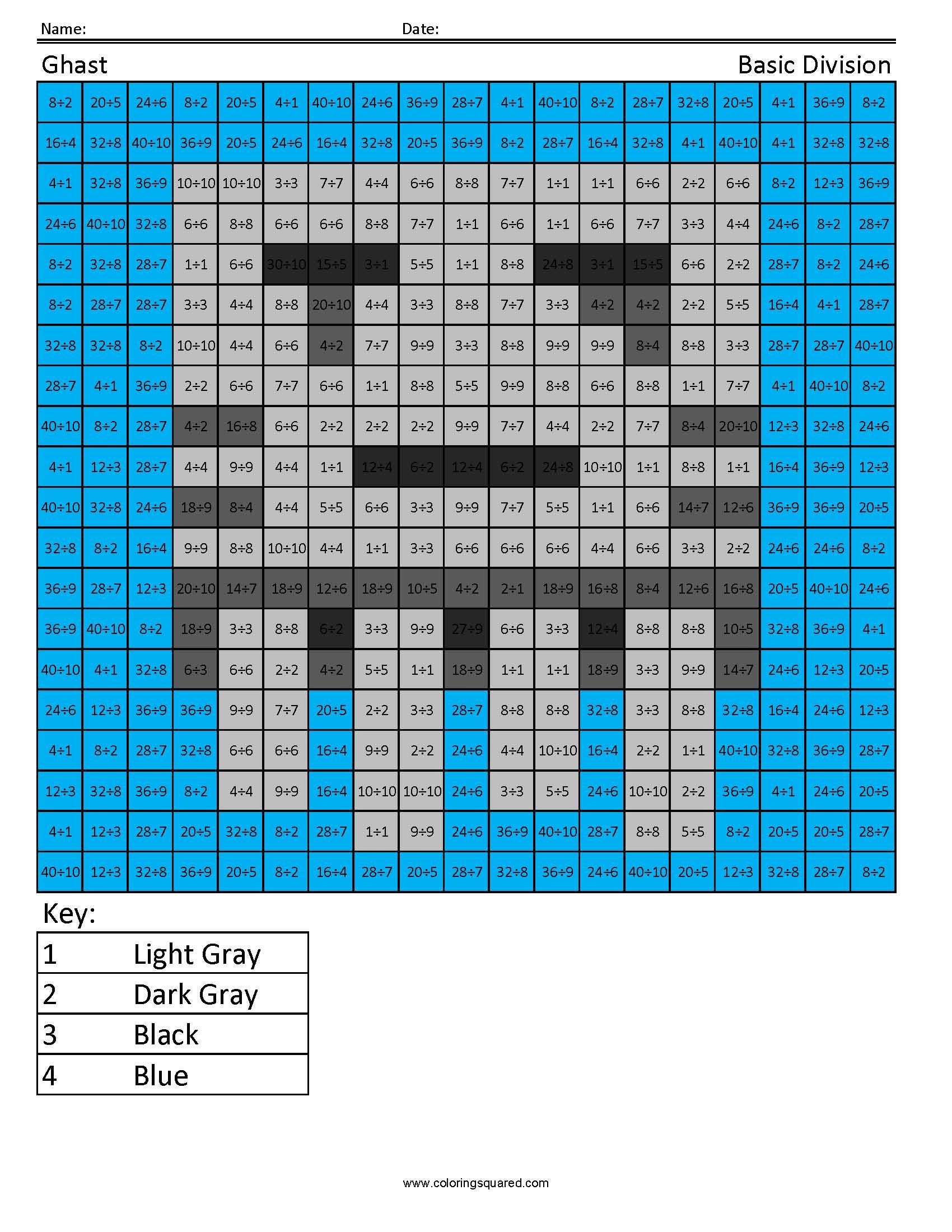 ghast basic division coloring squared. Black Bedroom Furniture Sets. Home Design Ideas