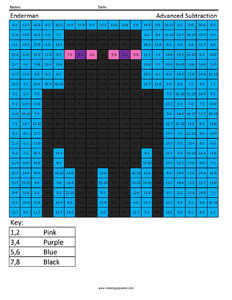 Minecraft Enderman- Addition and Subtraction
