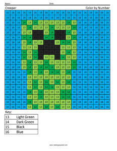 Minecraft Creeper- Coloring Pages