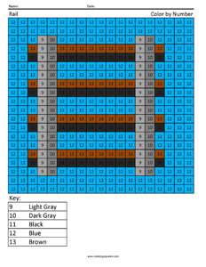 Minecraft Rail- Coloring Pages