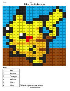 Pokemon Pikachu- Basic Division Nintendo coloring page