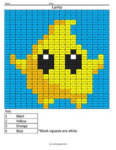 Luma- Practice Division Nintendo coloring page