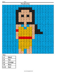 Disney Princess Addition And Subtraction Coloring Squared