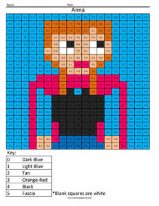 Anna- Basic Subtraction Disney Frozen
