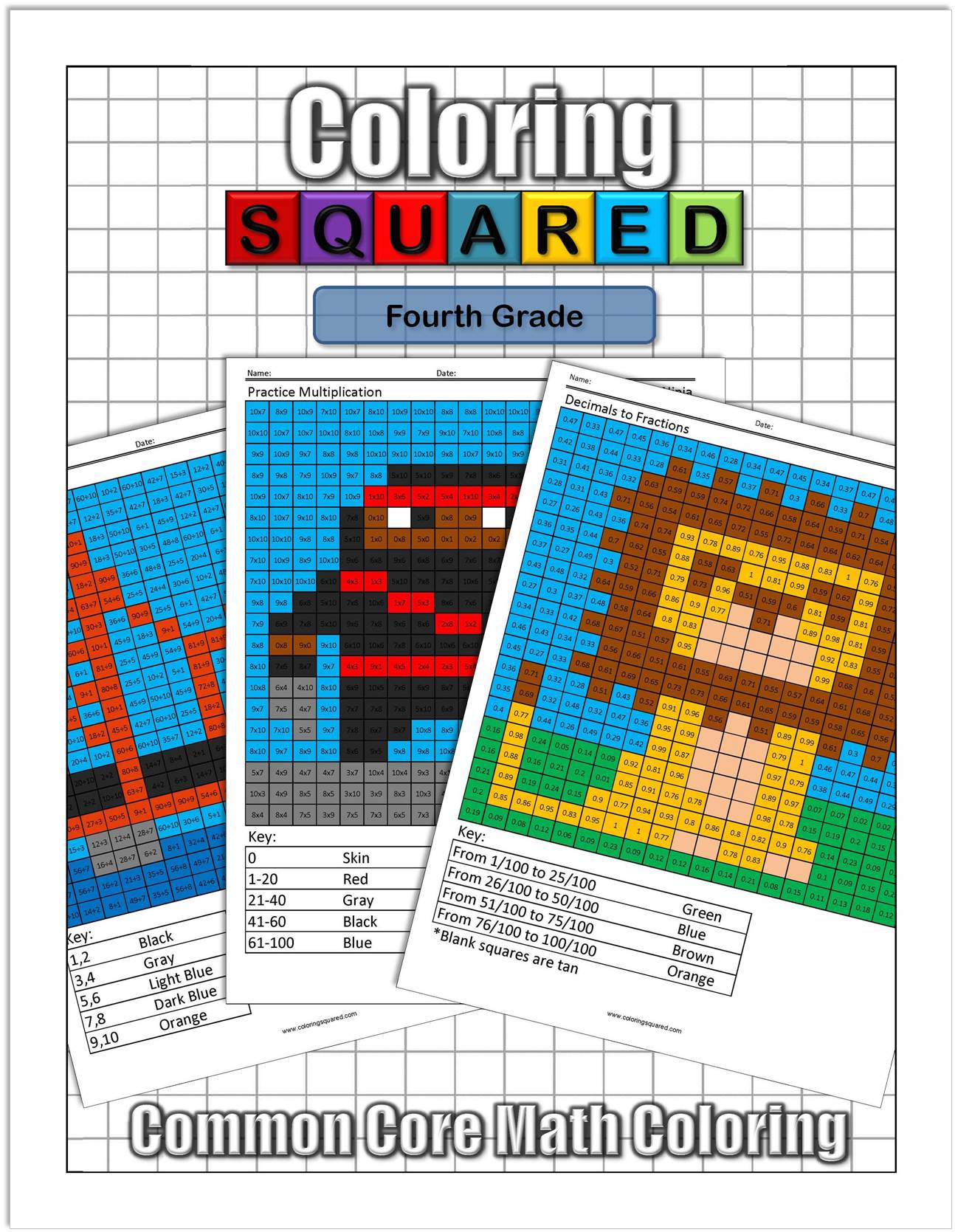 4th Grade Math - Coloring Squared
