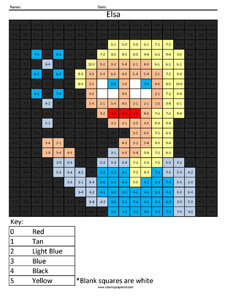 Elsa Basic Subtraction Disney Frozen