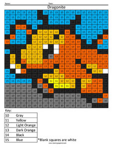 Dragonite- Color by Number Nintendo Pokemon