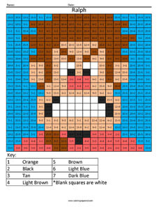 Wreck it Ralph- Practice Division Disney coloring math facts