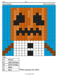 Iron Golem- Minecraft color by number Coloring Page