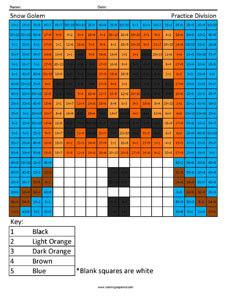 Snow Golem- Practice Division Minecraft Math