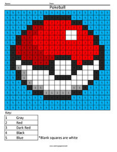 Pokeball- Color by Number Nintendo Pokemon
