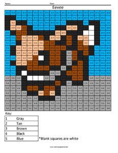 Eevee- Practice Division Nintendo Pokemon