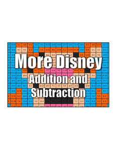 Get More Disney Character Addition and Subtraction