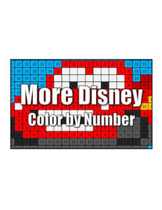 Get More Disney Character Color by Number