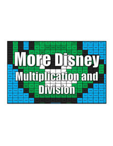 Get More Disney Character Multiplication and Division