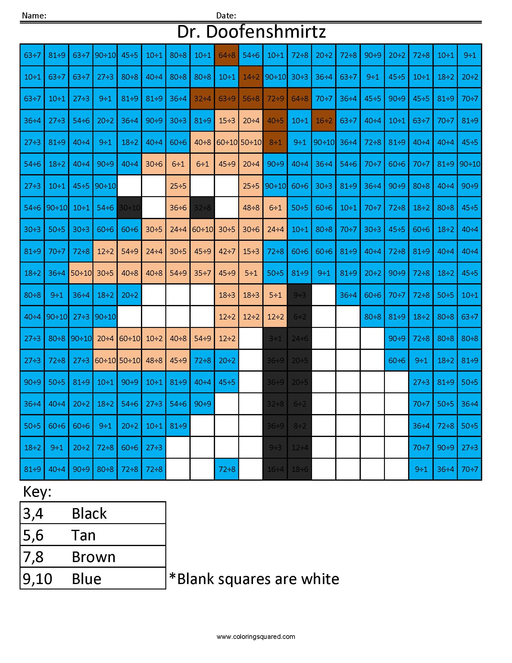 Dr. Doofenshmirtz- Advanced Division - Coloring Squared