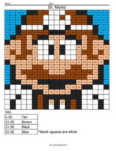 Dr. Mario- Practice Multiplication Super Mario math worksheets