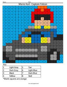 21CN Mario Kart Captain Falcon