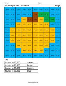 Rounding to Ten Thousands- Orange 4th Grade Math Concepts
