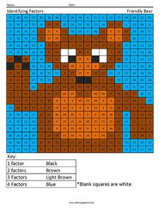 Identifying Factors Bear Coloring