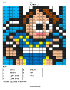 Chun Li- Practice Division coloring activity