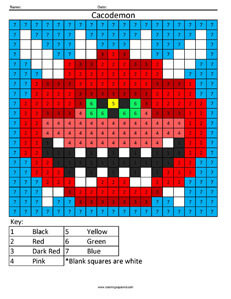 Doom- Color by Number coloring activity