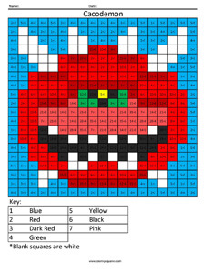 Doom- Practice Division coloring activity