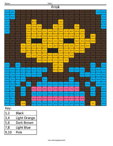 Frisk- Undertale Division coloring activity