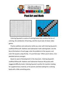 Minecraft Addition and Subtraction Front