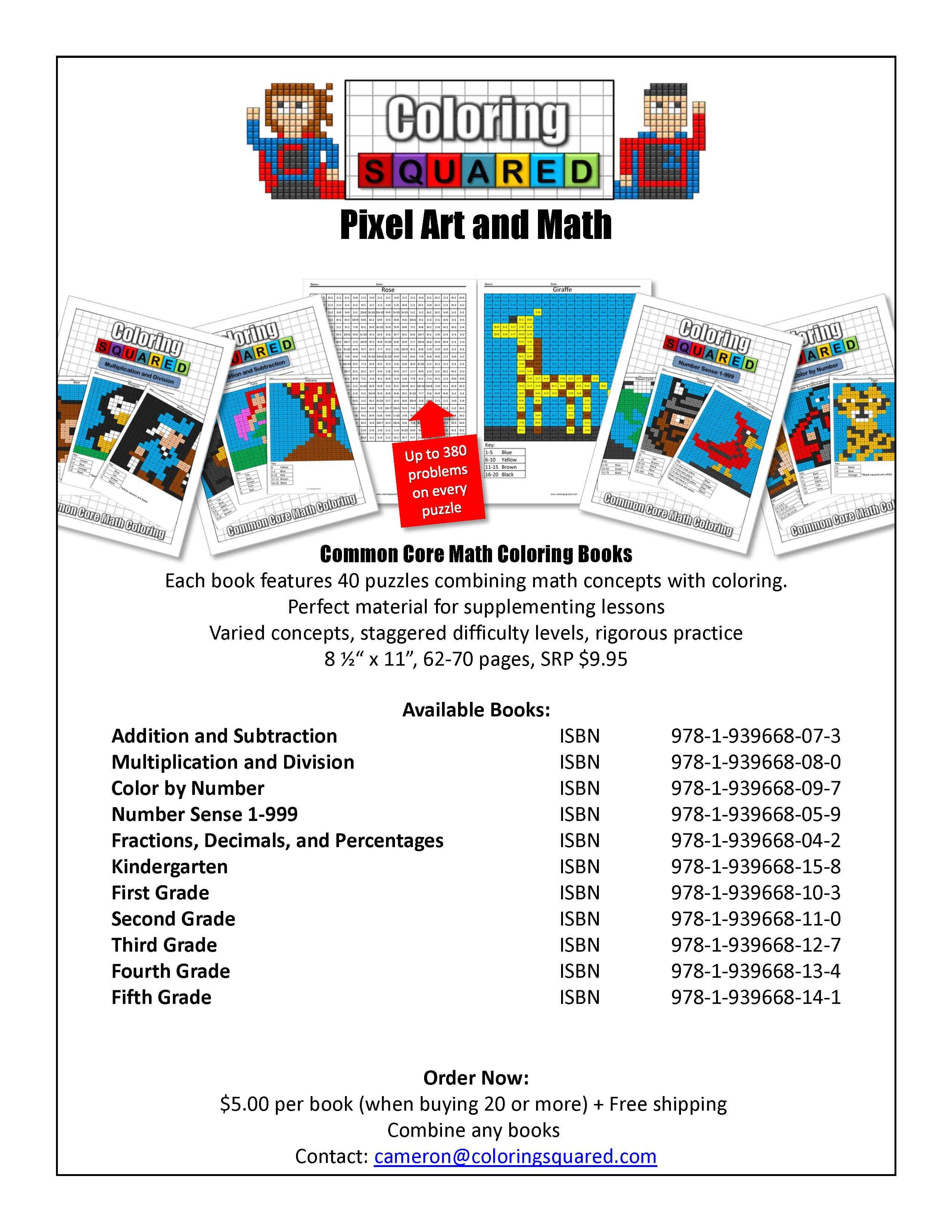 Coloring Squared Sales Flier