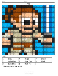 Rey- Star Wars Subtraction coloring activity