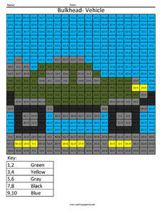 Bulkhead Vehicle- Practice Division Multiplication and Division Math Coloring Worksheets Transformers
