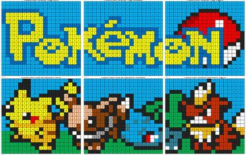 Pokémon Mural- Color by Number - Coloring Squared