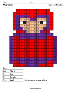 Magnabean- Color by Number coloring page Magneto