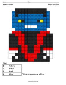 Beancrawler- Basic Division coloring page